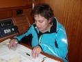 Karin an der Navigation
