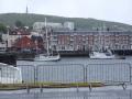 ungemütlicher Wellengang im Stadthafen von Harstad